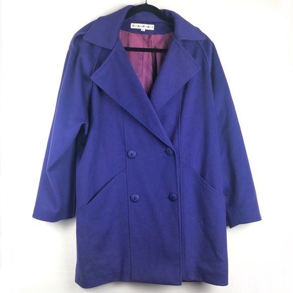 Capri Jackets & Blazers - Vintage Capri Purple 100% Pure Wool Coat, 6.